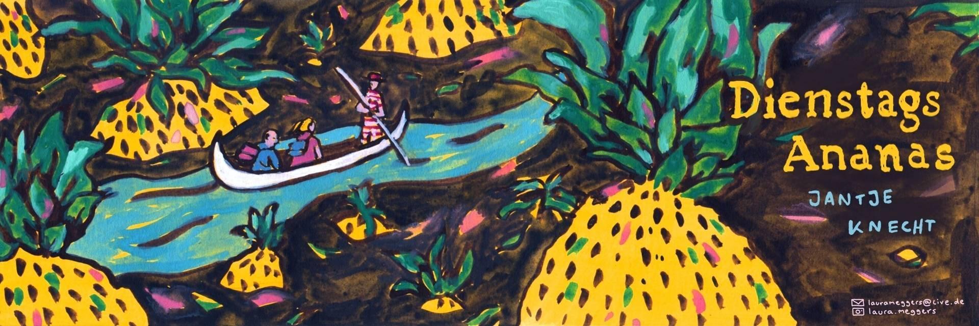 """Illustration """"Dienstags Ananas"""" von Laura Meggers"""